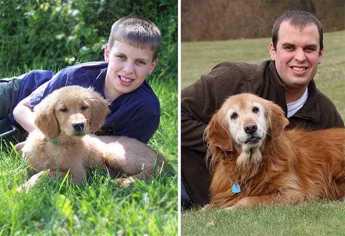 Αξιολάτρευτες φωτογραφίες σκύλων πριν και μετά την ανάπτυξή τους (14)