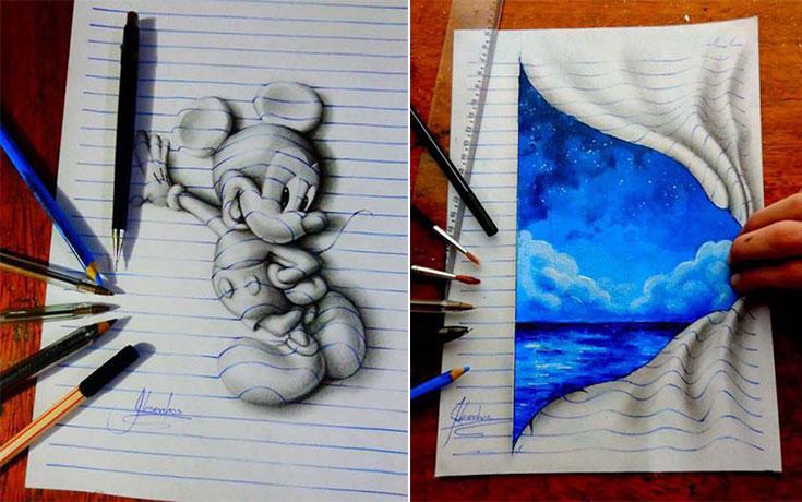 Απίστευτη 3D τέχνη σε χαρτί από έναν 17χρονο (1)
