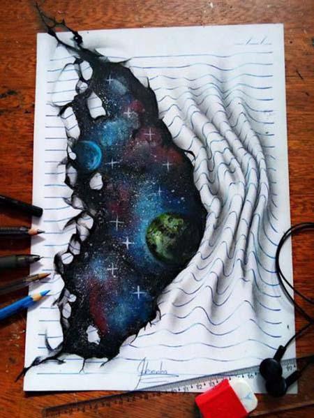 Απίστευτη 3D τέχνη σε χαρτί από έναν 17χρονο (8)