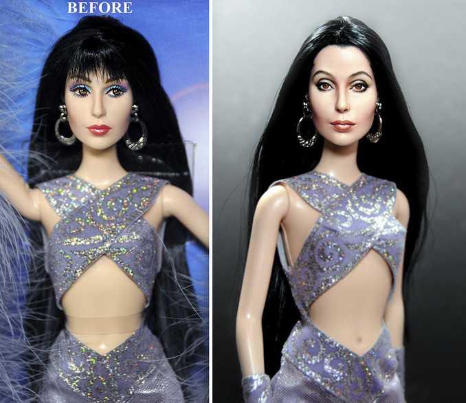 Κούκλες διασήμων ξαναβάφονται για να γίνουν πιο ρεαλιστικές και το αποτέλεσμα είναι εκπληκτικό! (2)