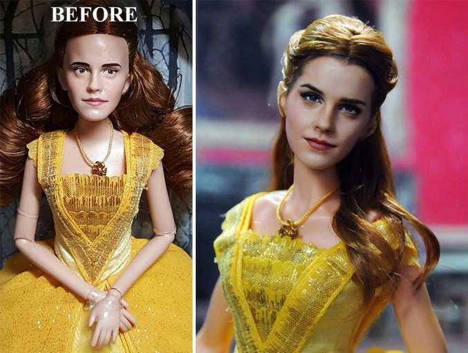 Κούκλες διασήμων ξαναβάφονται για να γίνουν πιο ρεαλιστικές και το αποτέλεσμα είναι εκπληκτικό! (6)