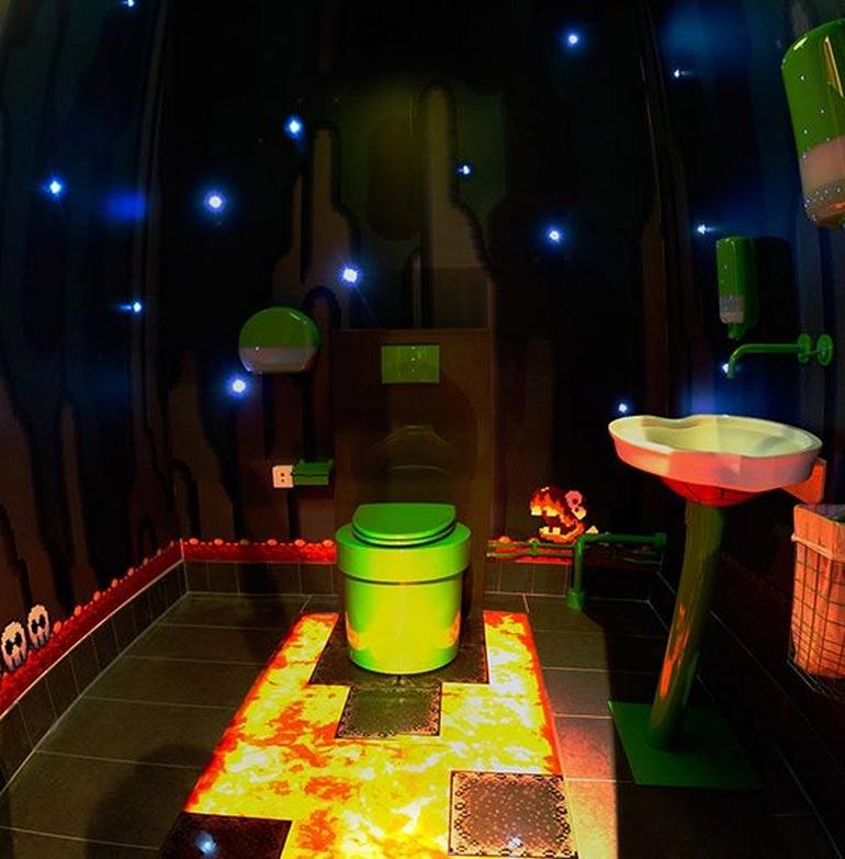 Το μπάνιο που σε βάζει στον κόσμο του Super Mario | Φωτογραφία της ημέρας