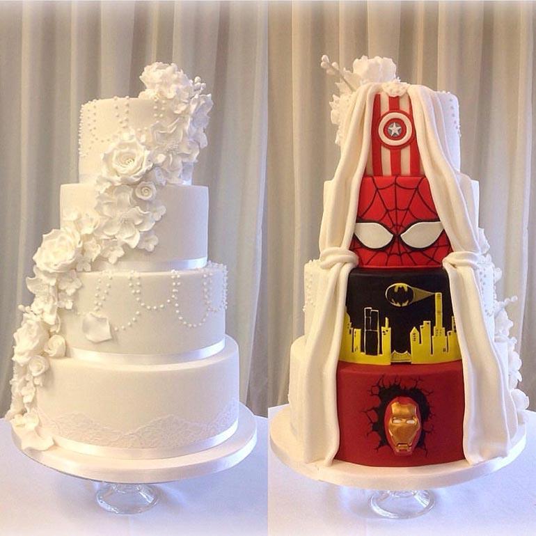 Όταν η νύφη θέλει κάτι κλασικό αλλά ο γαμπρός λατρεύει τους σούπερ ήρωες   Φωτογραφία της ημέρας