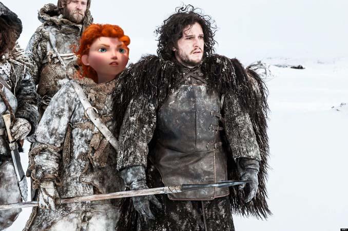 Αν οι χαρακτήρες της Disney έπαιζαν στο Game of Thrones (4)