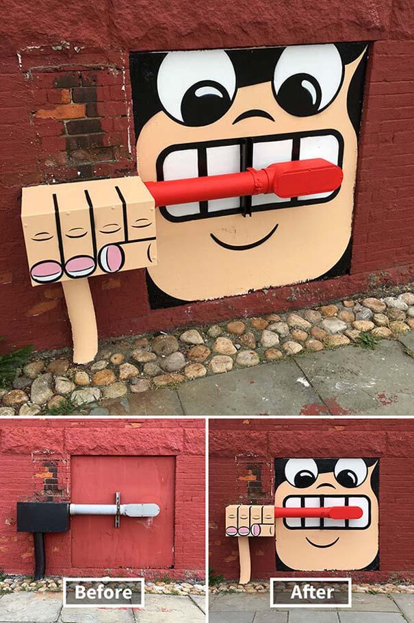 Δημιουργική και διασκεδαστική τέχνη του δρόμου από τον Tom Bob (2)