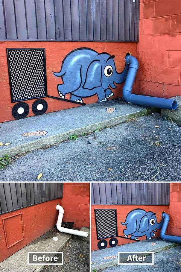 Δημιουργική και διασκεδαστική τέχνη του δρόμου από τον Tom Bob (3)