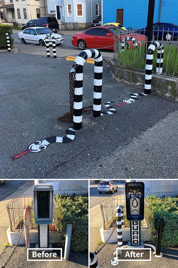 Δημιουργική και διασκεδαστική τέχνη του δρόμου από τον Tom Bob (4)