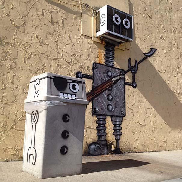 Δημιουργική και διασκεδαστική τέχνη του δρόμου από τον Tom Bob (5)