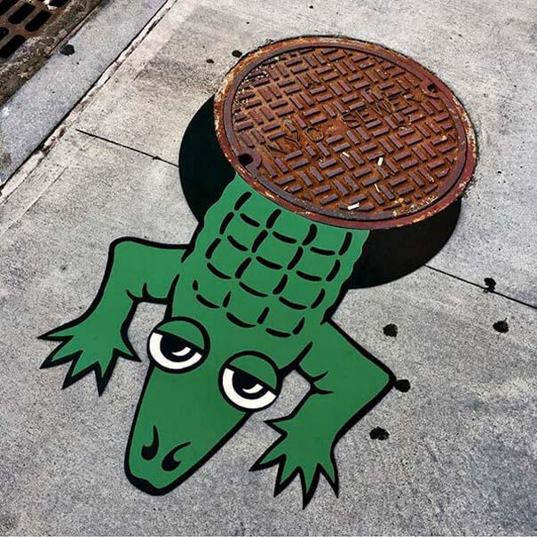 Δημιουργική και διασκεδαστική τέχνη του δρόμου από τον Tom Bob (7)