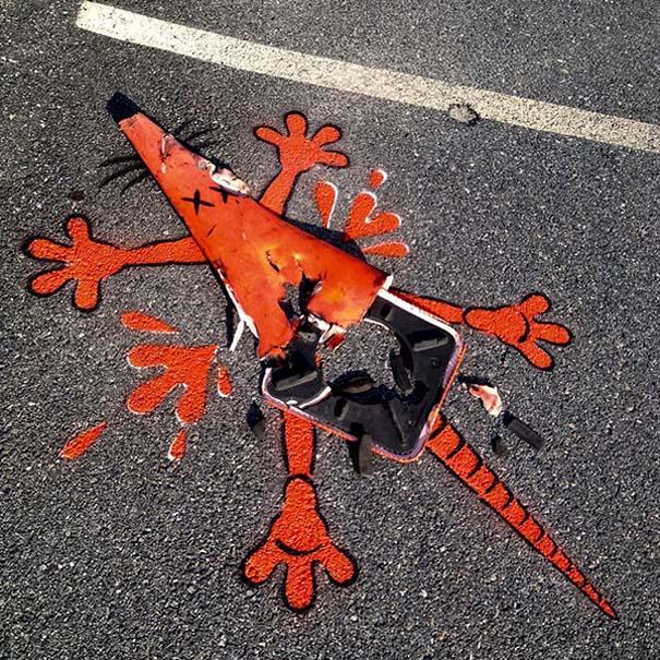 Δημιουργική και διασκεδαστική τέχνη του δρόμου από τον Tom Bob (8)