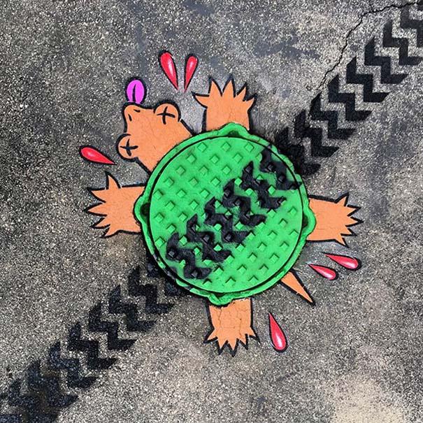 Δημιουργική και διασκεδαστική τέχνη του δρόμου από τον Tom Bob (10)