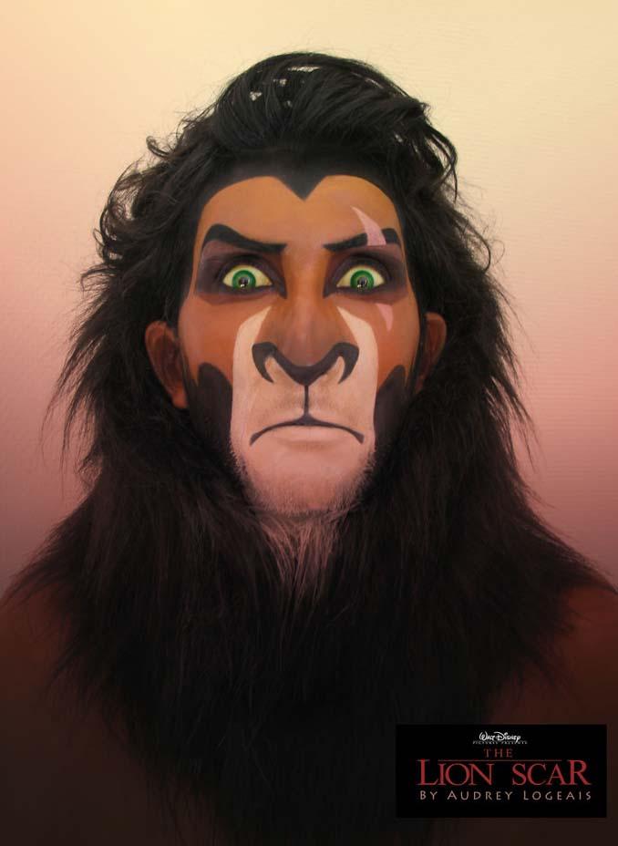 Make up artist μεταμορφώνει ανθρώπους σε κακούς της Disney χρησιμοποιώντας το μακιγιάζ (5)
