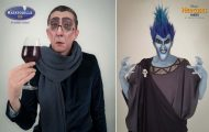 Make up artist μεταμορφώνει ανθρώπους σε «κακούς» της Disney χρησιμοποιώντας το μακιγιάζ