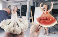 Μητέρα «ντύνει» την κόρη της με τρόφιμα και λουλούδια χρησιμοποιώντας αναγκαστική προοπτική (24)