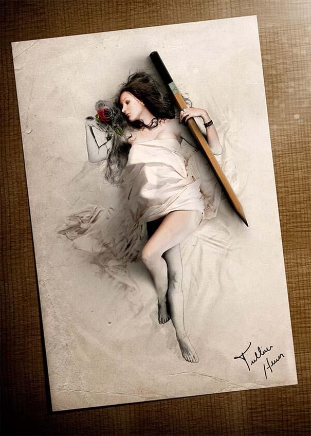 Όταν η τέχνη της φωτογραφίας συναντά τα σκίτσα με μολύβι (6)