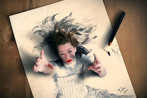 Όταν η τέχνη της φωτογραφίας συναντά τα σκίτσα με μολύβι (7)