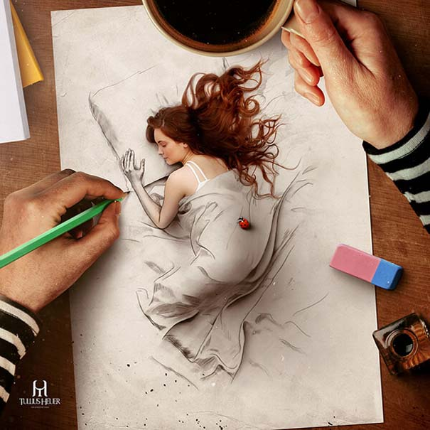 Όταν η τέχνη της φωτογραφίας συναντά τα σκίτσα με μολύβι (8)