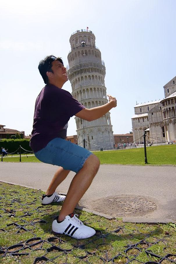 Ποζάροντας με τον Πύργο της Πίζας (20)