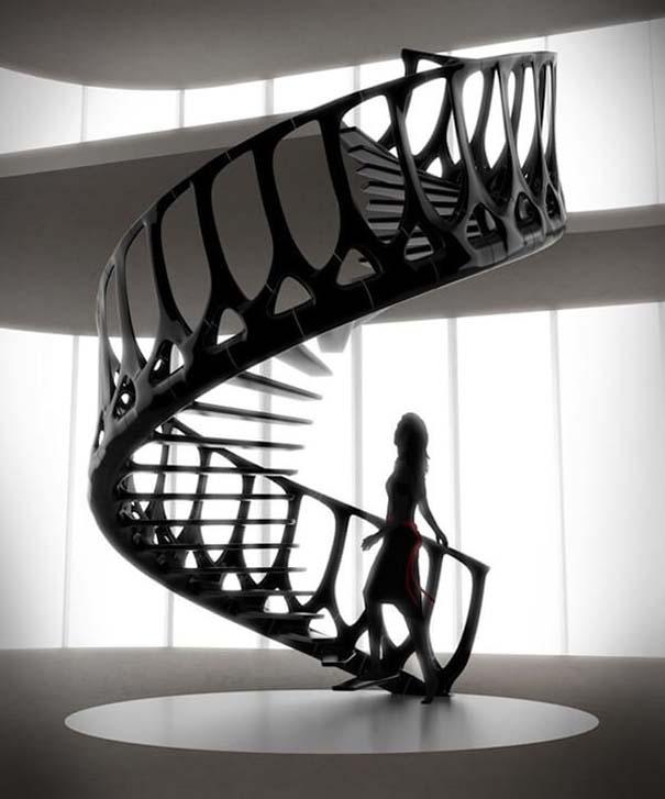 Πρωτότυπες σκάλες για ένα μοντέρνο σπίτι (1)
