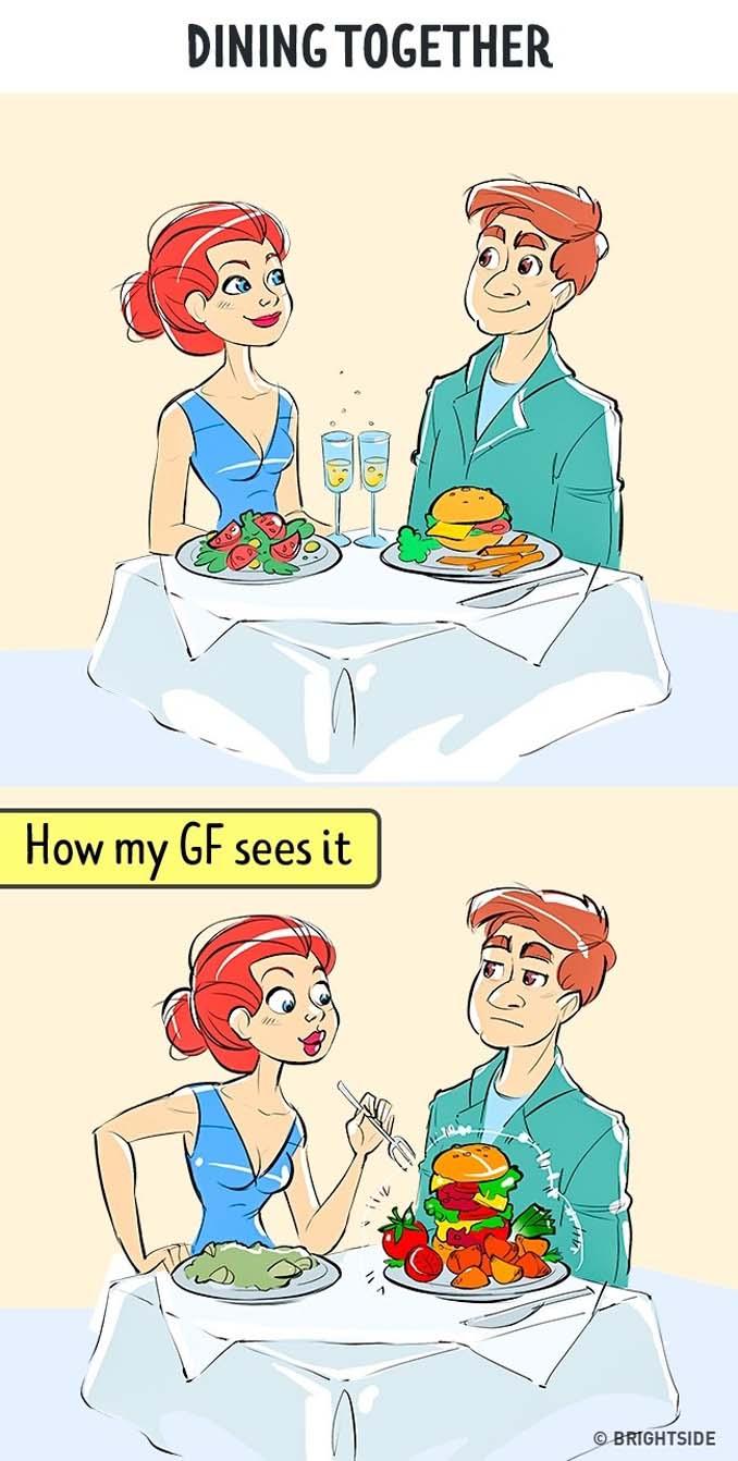 Πώς βλέπει ένας άνδρας τη ζωή του και πως την βλέπει η κοπέλα του (3)