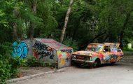 Ρώσοι street artists έκαναν delete αυτοκίνητο με μια έξυπνη οφθαλμαπάτη (1)