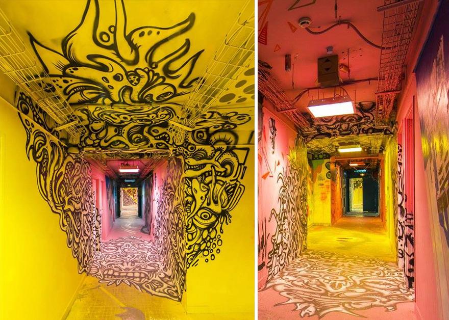 Σχολείο ζήτησε από 100 street artists να το βάψουν πριν ανακαινιστεί και το αποτέλεσμα είναι απίστευτο (1)