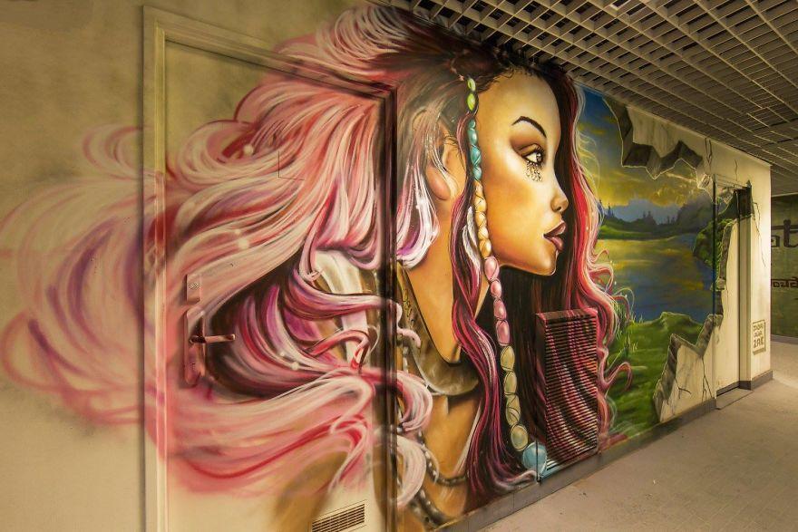 Σχολείο ζήτησε από 100 street artists να το βάψουν πριν ανακαινιστεί και το αποτέλεσμα είναι απίστευτο (3)