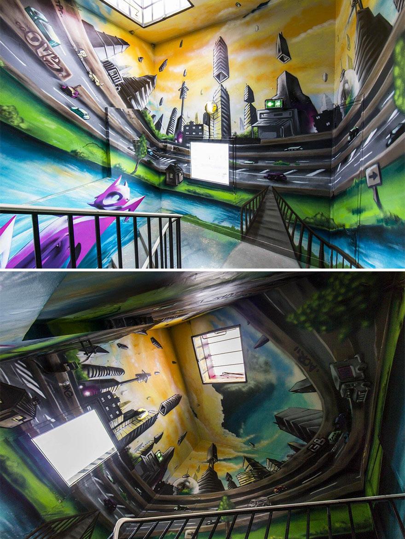 Σχολείο ζήτησε από 100 street artists να το βάψουν πριν ανακαινιστεί και το αποτέλεσμα είναι απίστευτο (13)