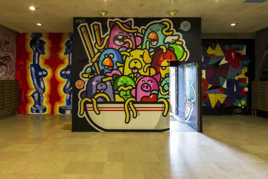 Σχολείο ζήτησε από 100 street artists να το βάψουν πριν ανακαινιστεί και το αποτέλεσμα είναι απίστευτο (14)