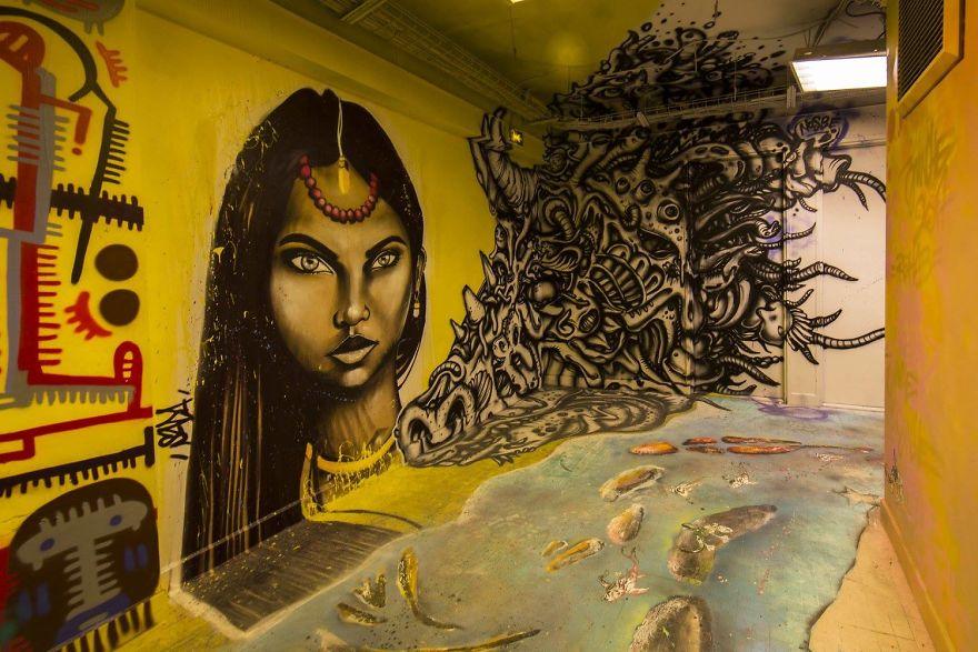 Σχολείο ζήτησε από 100 street artists να το βάψουν πριν ανακαινιστεί και το αποτέλεσμα είναι απίστευτο (17)
