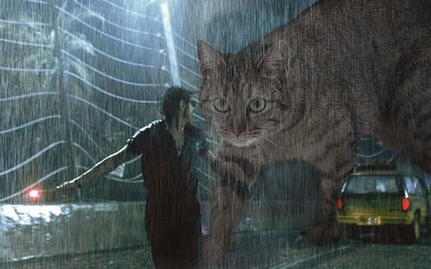 Αν στο Jurassic Park πρωταγωνιστούσαν γάτες (7)