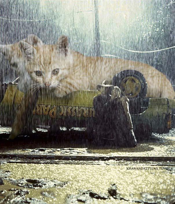 Αν στο Jurassic Park πρωταγωνιστούσαν γάτες (10)
