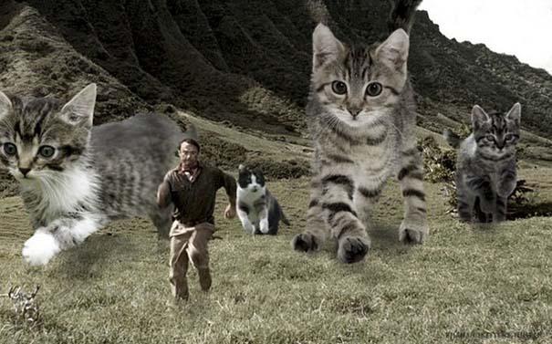 Αν στο Jurassic Park πρωταγωνιστούσαν γάτες (12)