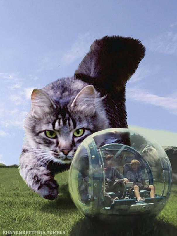Αν στο Jurassic Park πρωταγωνιστούσαν γάτες (15)