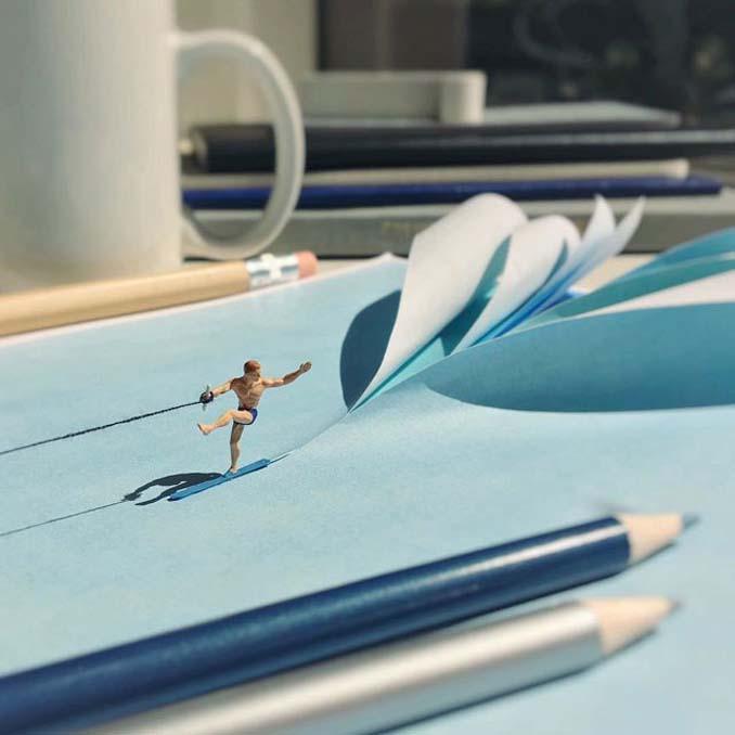 Δημιουργεί εκπληκτικές σκηνές στο γραφείο του χρησιμοποιώντας καθημερινά αντικείμενα και μινιατούρες (2)