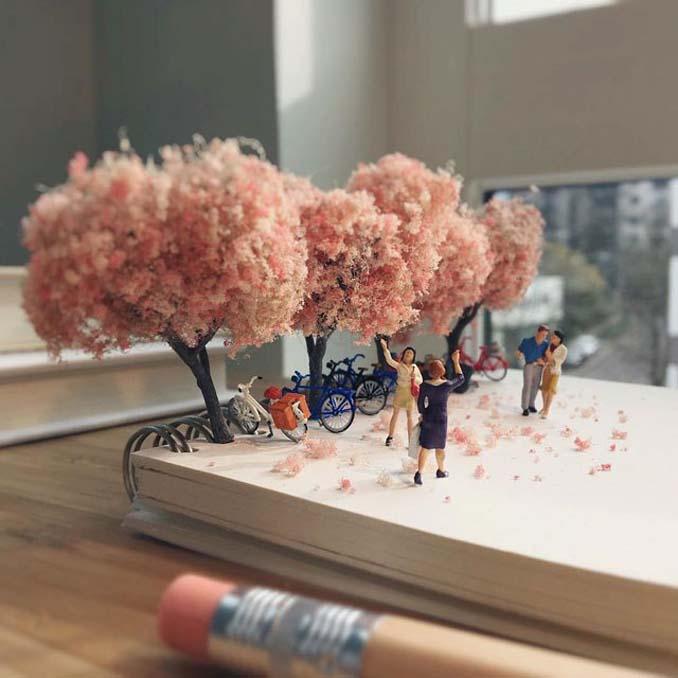Δημιουργεί εκπληκτικές σκηνές στο γραφείο του χρησιμοποιώντας καθημερινά αντικείμενα και μινιατούρες (10)
