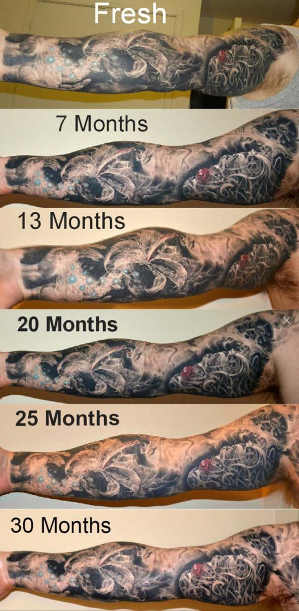 Φωτογραφίες δείχνουν πώς γίνονται τα τατουάζ μετά από καιρό (1)