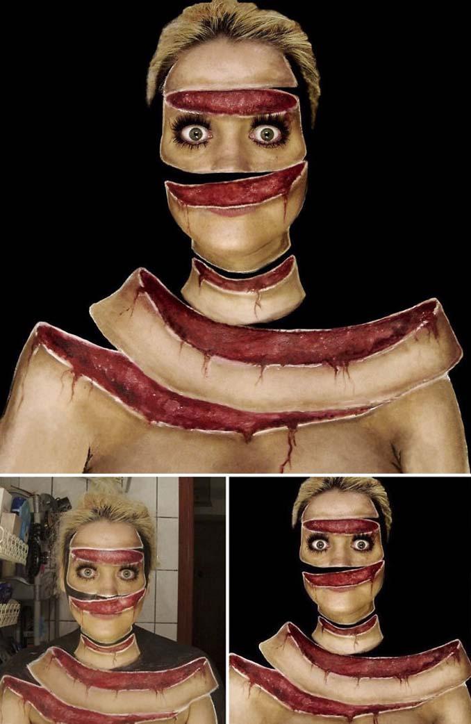 Γυναίκα αφιερώνει έως και 12 ώρες για να δημιουργήσει πάνω της απίθανες οφθαλμαπάτες (14)