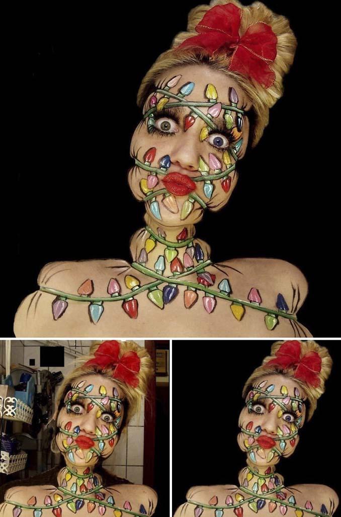 Γυναίκα αφιερώνει έως και 12 ώρες για να δημιουργήσει πάνω της απίθανες οφθαλμαπάτες (15)
