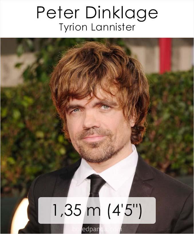 Η λίστα με το ύψος των ηθοποιών του Game of Thrones κρύβει πολλές εκπλήξεις (1)