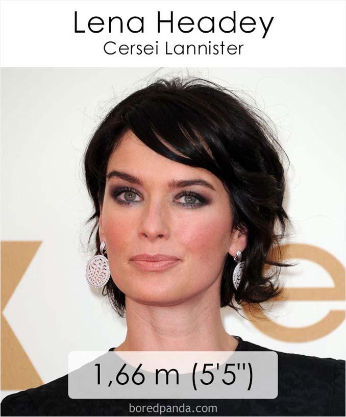 Η λίστα με το ύψος των ηθοποιών του Game of Thrones κρύβει πολλές εκπλήξεις (6)