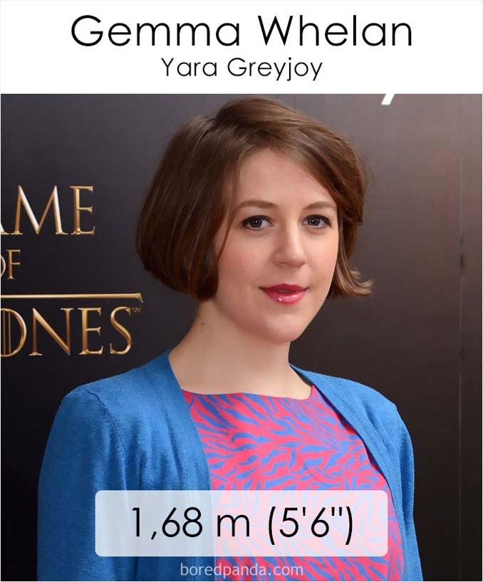 Η λίστα με το ύψος των ηθοποιών του Game of Thrones κρύβει πολλές εκπλήξεις (9)