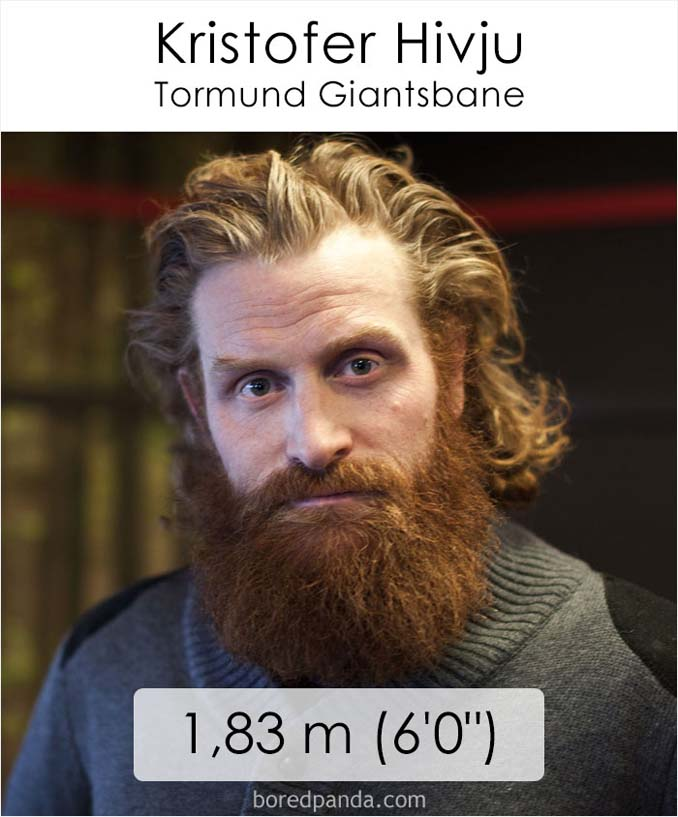 Η λίστα με το ύψος των ηθοποιών του Game of Thrones κρύβει πολλές εκπλήξεις (34)