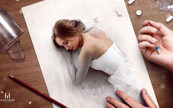 Όταν η τέχνη της φωτογραφίας συναντά τα σκίτσα με μολύβι (1)