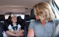 Πατέρας και τετράχρονη κόρη δίνουν μοναδική παράσταση στο αυτοκίνητο