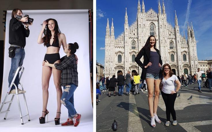 Είναι η Ekaterina Lisina το ψηλότερο μοντέλο στον κόσμο;