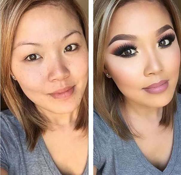 Φωτογραφίες πριν και μετά το μακιγιάζ που θα νομίζεις πως βλέπεις άλλον άνθρωπο (1)