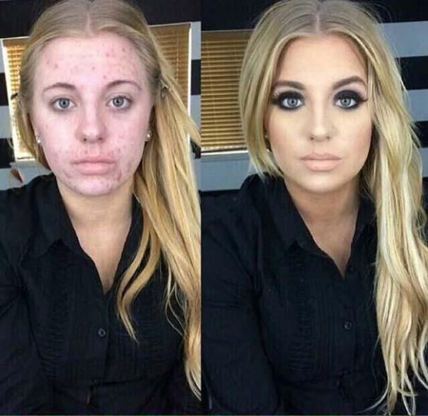 Φωτογραφίες πριν και μετά το μακιγιάζ που θα νομίζεις πως βλέπεις άλλον άνθρωπο (3)