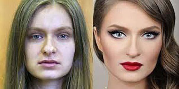 Φωτογραφίες πριν και μετά το μακιγιάζ που θα νομίζεις πως βλέπεις άλλον άνθρωπο (5)