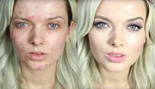 Φωτογραφίες πριν και μετά το μακιγιάζ που θα νομίζεις πως βλέπεις άλλον άνθρωπο (8)